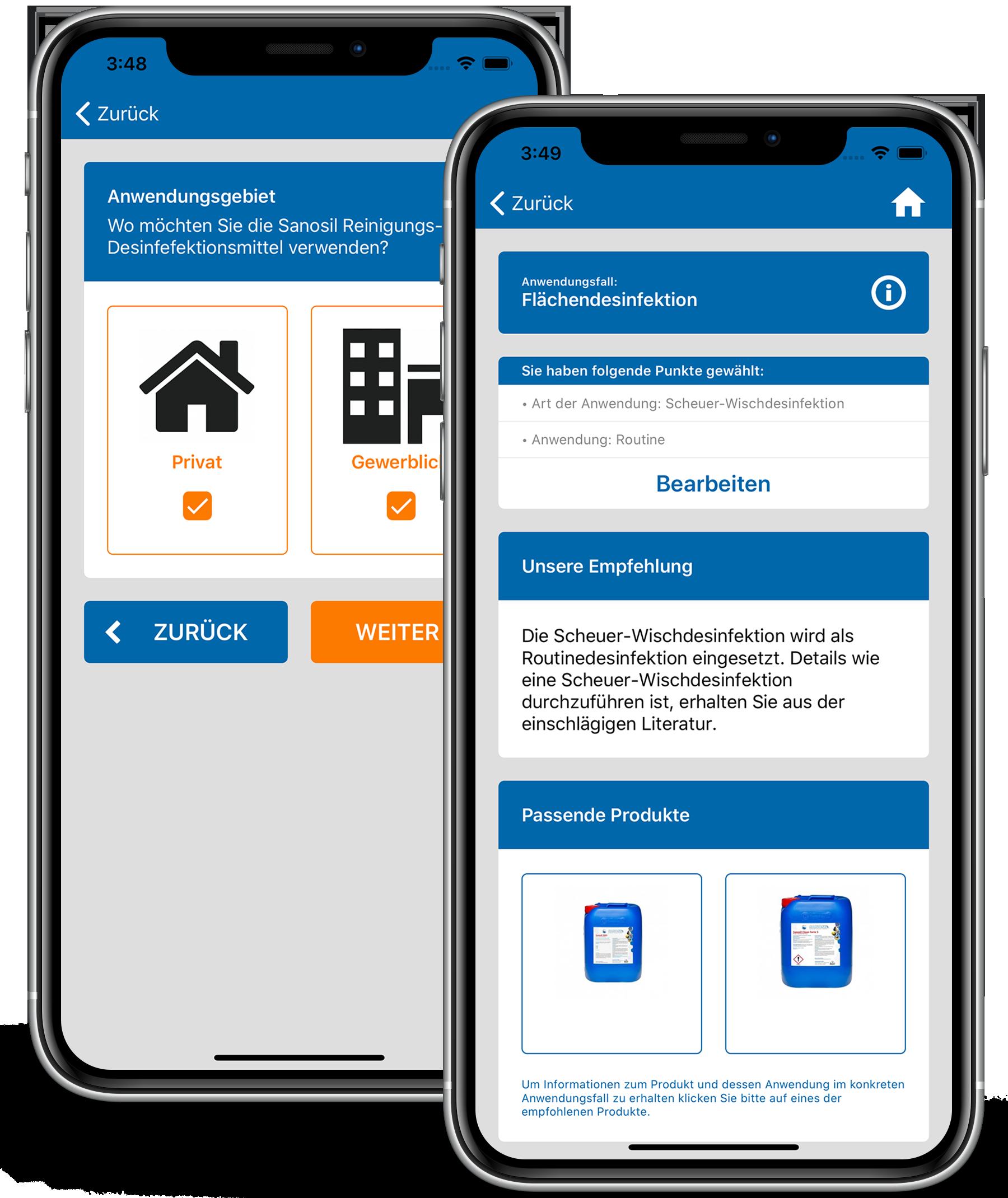 Mockup Smartphone Produktberater